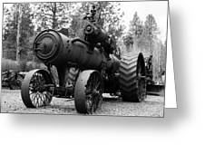Vintage Steam Tractor Greeting Card
