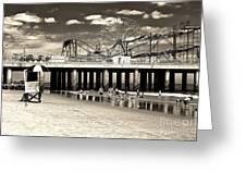 Vintage Steel Pier Greeting Card
