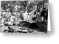 Vintage Street Scene In Ponce - Puerto Rico - C 1899 Greeting Card