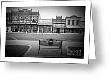Vintage Street View Greeting Card