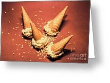 Vintage Summer Ice Cream Spill Greeting Card