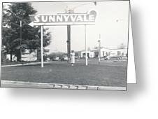 Vintage Sunnyvale Sign Greeting Card