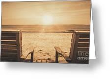 Vintage Sunrise Greeting Card