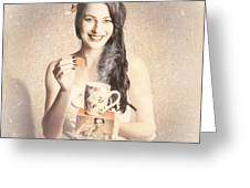 Vintage Tea Advertisement Pin-up Greeting Card