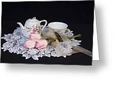 Vintage Tea Set Greeting Card