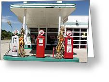 Vintage Texaco Station Greeting Card
