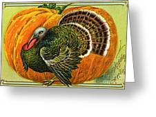Vintage Thanksgiving Card Greeting Card