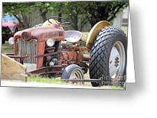 Vintage Tractor In Color Greeting Card