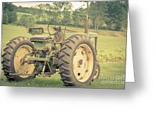 Vintage Tractor Keene New Hampshire Greeting Card
