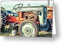 Vintage Tractors Pei Square Greeting Card