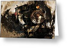 Vintage Train 06 Greeting Card