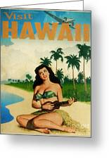 Vintage Travel Hawaii Greeting Card