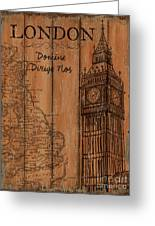 Vintage Travel London Greeting Card