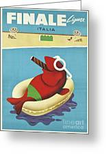 Vintage Travel Poster Italy Greeting Card