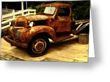 Vintage Truck Greeting Card