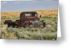 Vintage Truck In Field Greeting Card