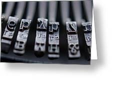 Vintage Typewriter Keys Greeting Card