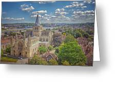 Vintage View Of The Cathedral Greeting Card