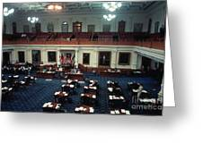 Vintage View Of The Senate Chamber, The Texas Capitol, May 1990 Greeting Card