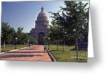 Vintage View Of The Texas State Capitol In Downtown Austin, Texas Greeting Card