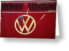 Vintage Vw Bus Logo Greeting Card