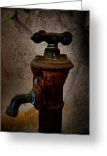 Vintage Water Faucet Greeting Card