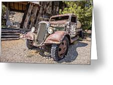 Vintage Water Truck In The Desert Greeting Card