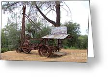 Vintage Well Driller 1 Greeting Card