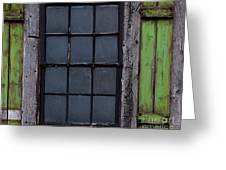 Vintage Windows Greeting Card