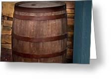 Vintage Wine Barrel Greeting Card