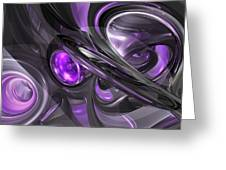 Violaceous Abstract  Greeting Card
