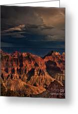 Violent Storm Over The North Rim Grand Canyon National Park Arizona Greeting Card