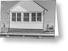 9 - Violet - Flower Cottages Series Greeting Card