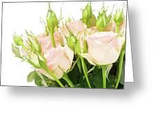 Garden Roses Bouquet Greeting Card