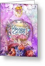Violet Easter Greeting Card