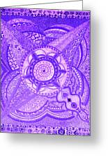 Violet Energy Greeting Card