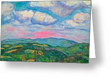 Violet Evening On Rocky Knob Greeting Card