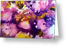 Violet Explosion  Greeting Card