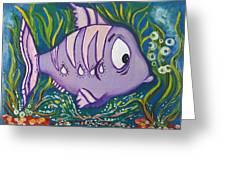 Violet Fish Greeting Card
