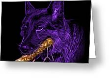 Violet German Shepard And Toy - 0745 F Greeting Card