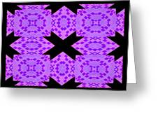 Violet Haze Abstract Greeting Card