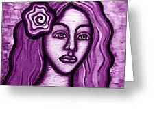 Violet Lady Greeting Card