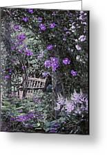 Violet Muted Garden Respite Greeting Card