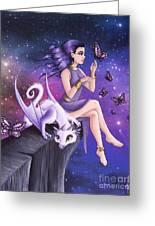 Violet Night Fantasy Greeting Card