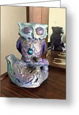 Violet Owl Greeting Card