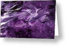 Violet Rhapsody- Art By Linda Woods Greeting Card