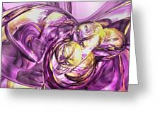 Violet Summer Abstract Greeting Card