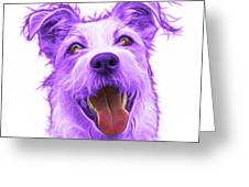 Violet Terrier Mix 2989 - Wb Greeting Card