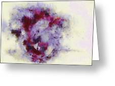 Violets Abstract Greeting Card