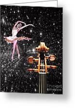 Violin And Ballet Dancer Number 1 Greeting Card